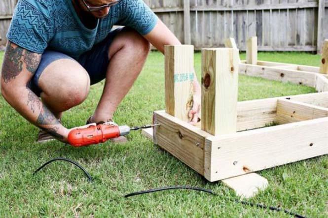 Κατασκευή σετ κήπου που κόστισε ελάχιστα (6)