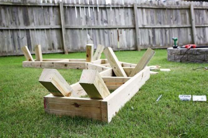 Κατασκευή σετ κήπου που κόστισε ελάχιστα (7)