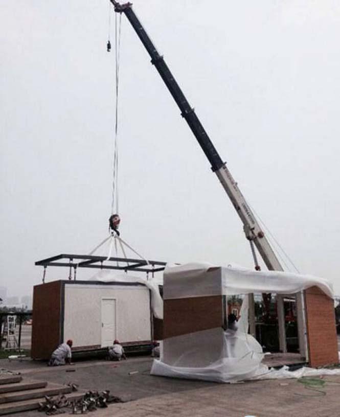 Κινεζική εταιρεία κατασκευάζει σπίτια σε 3 ώρες (2)