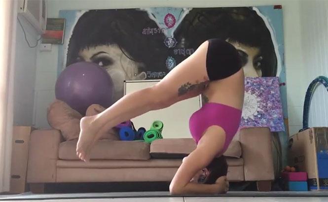 Αυτή η κοπέλα έκανε την τέλεια στάση Yoga, όταν ξαφνικά...