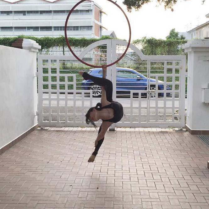 Το κορίτσι λάστιχο που μπορεί να κάνει τα πάντα στον αέρα (2)