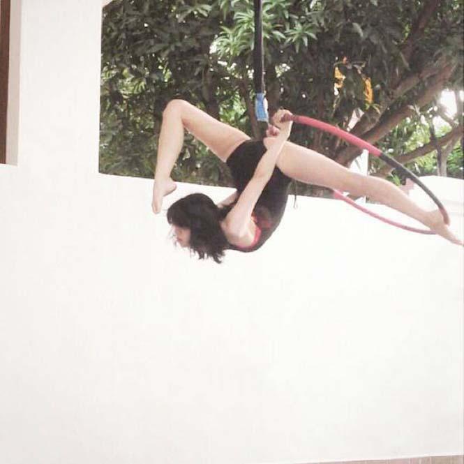 Το κορίτσι λάστιχο που μπορεί να κάνει τα πάντα στον αέρα (8)