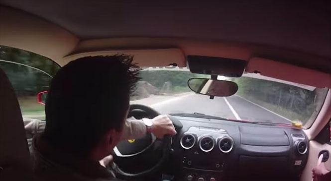 Παρολίγον τροχαίο με Ferrari σε test drive