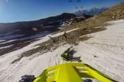 Ποδηλατικός αγώνας σε παγετώνα