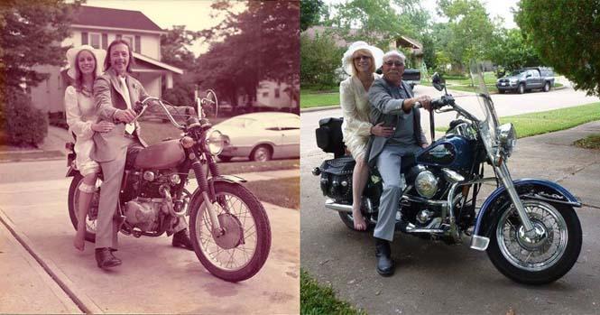 Ζευγάρι γιορτάζει την 40η του επέτειο κάνοντας αναπαράσταση των φωτογραφιών του γάμου τους (3)