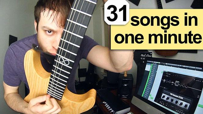 31 ροκ τραγούδια σε 1 λεπτό