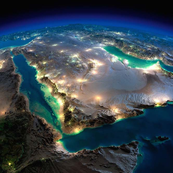 Εκπληκτικές νυχτερινές εικόνες της Γης (1)