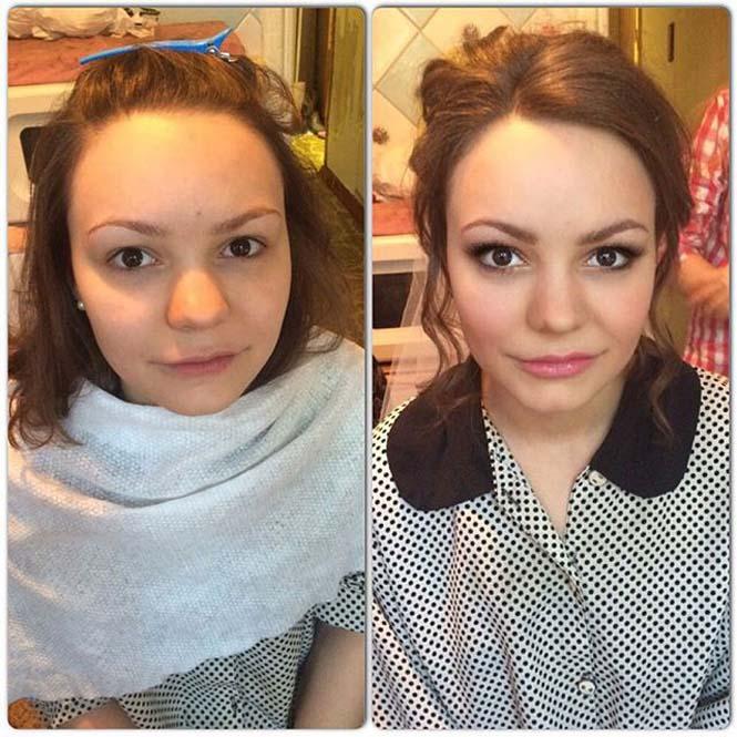 Γυναίκες να μεταμορφώνονται με το μακιγιάζ (2)
