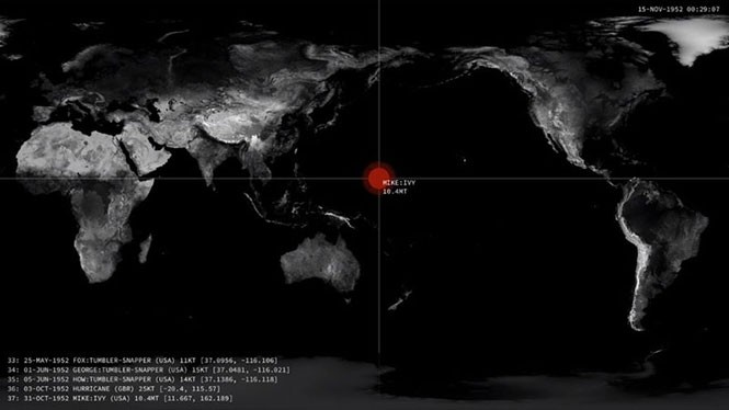 Κάθε πυρηνική έκρηξη από το 1945 μέχρι σήμερα