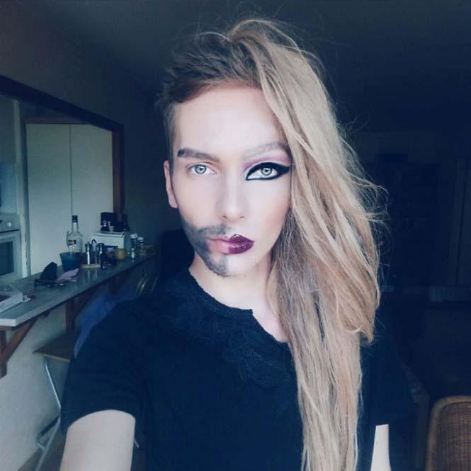 Δεν θα πιστεύετε πως μεταμορφώθηκε αυτός ο άνδρας χρησιμοποιώντας μακιγιάζ (5)