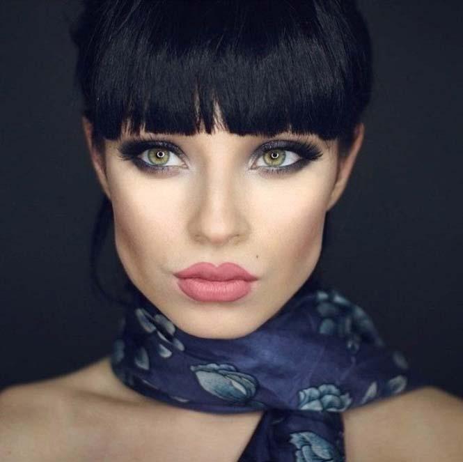 Μια όμορφη γυναίκα γίνεται αγνώριστη με 6 εντελώς διαφορετικά look (1)