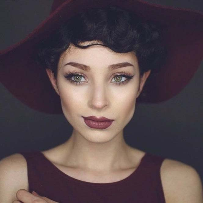 Μια όμορφη γυναίκα γίνεται αγνώριστη με 6 εντελώς διαφορετικά look (4)