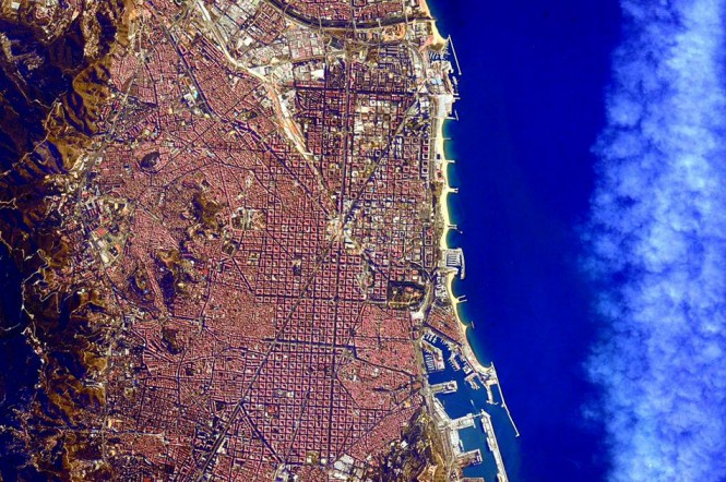 Η Βαρκελώνη από το διάστημα | Φωτογραφία της ημέρας
