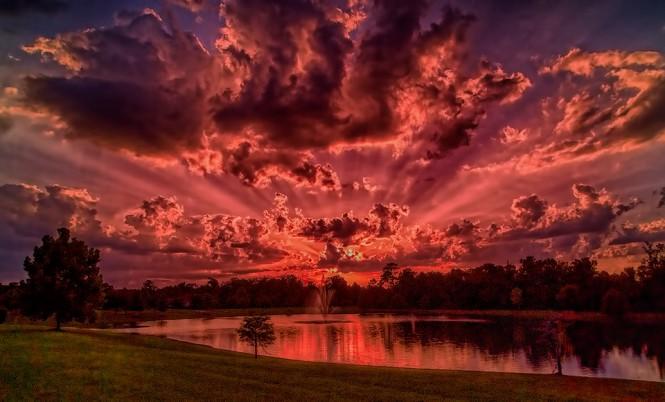 Το κόκκινο ηλιοβασίλεμα της Φλόριντα | Φωτογραφία της ημέρας
