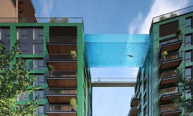 Πισίνα με γυάλινο βυθό στο Λονδίνο (1)