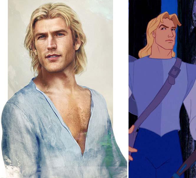 Πως θα έμοιαζαν οι πρίγκιπες της Disney στην πραγματική ζωή (7)