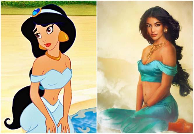 Πως θα έμοιαζαν οι πριγκίπισσες της Disney στην πραγματική ζωή (2)
