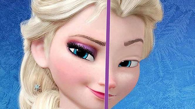 Πως θα ήταν οι πριγκίπισσες της Disney χωρίς μακιγιάζ
