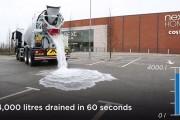 Εξαιρετικά απορροφητικό μπετόν απορροφά 4.000 λίτρα νερού σε 60 δευτερόλεπτα