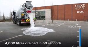 Εξαιρετικά απορροφητικό μπετόν απορροφά 4.000 λίτρα νερού σε 60 δευτερόλεπτα (Video)