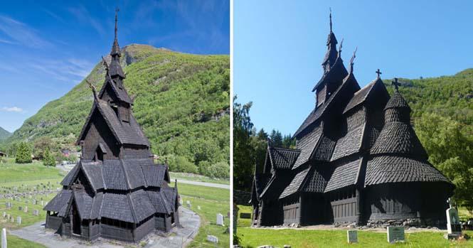 Εντυπωσιακός ναός στο Borgund της Νορβηγίας (1)