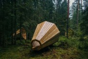 Φοιτητές κατασκεύασαν τεράστια ξύλινα μεγάφωνα σε δάσος της Εσθονίας - Δείτε γιατί (1)