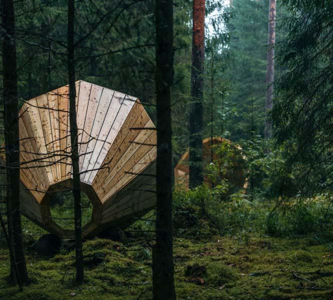 Φοιτητές κατασκεύασαν τεράστια ξύλινα μεγάφωνα σε δάσος της Εσθονίας - Δείτε γιατί (3)