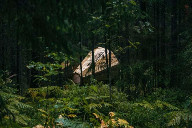 Φοιτητές κατασκεύασαν τεράστια ξύλινα μεγάφωνα σε δάσος της Εσθονίας - Δείτε γιατί (6)