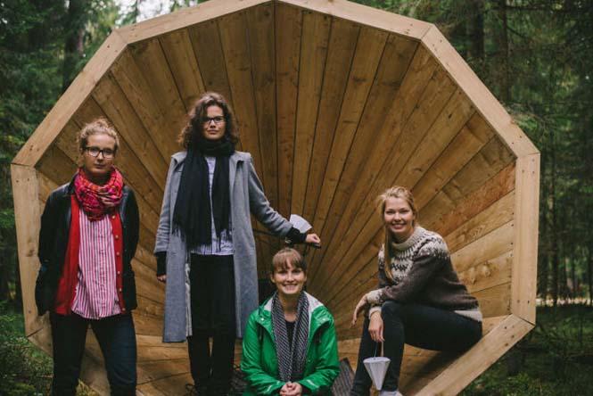 Φοιτητές κατασκεύασαν τεράστια ξύλινα μεγάφωνα σε δάσος της Εσθονίας - Δείτε γιατί (7)