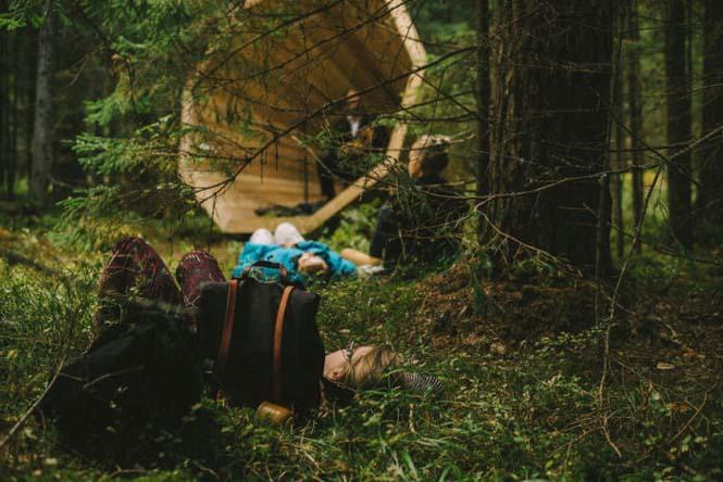 Φοιτητές κατασκεύασαν τεράστια ξύλινα μεγάφωνα σε δάσος της Εσθονίας - Δείτε γιατί (8)