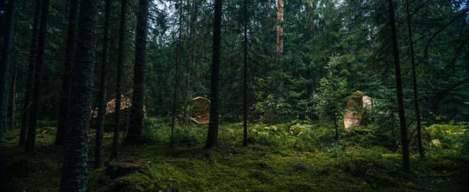 Φοιτητές κατασκεύασαν τεράστια ξύλινα μεγάφωνα σε δάσος της Εσθονίας - Δείτε γιατί (9)