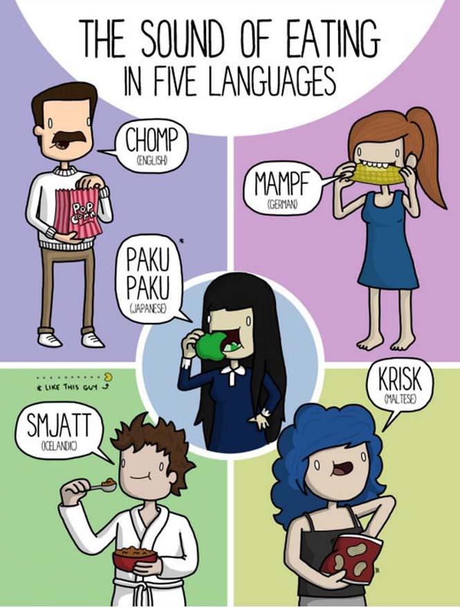 Καθημερινοί ήχοι σε διάφορες γλώσσες (1)