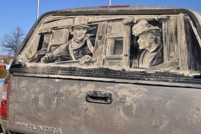 Εκεί που βλέπεις ένα σκονισμένο αυτοκίνητο, αυτός ο καλλιτέχνης βλέπει έναν κενό καμβά (3)