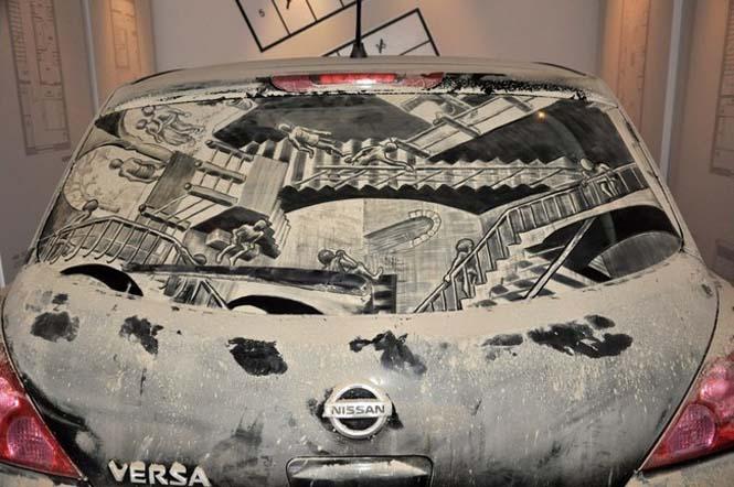 Εκεί που βλέπεις ένα σκονισμένο αυτοκίνητο, αυτός ο καλλιτέχνης βλέπει έναν κενό καμβά (6)