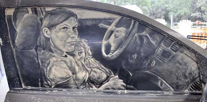 Εκεί που βλέπεις ένα σκονισμένο αυτοκίνητο, αυτός ο καλλιτέχνης βλέπει έναν κενό καμβά (8)