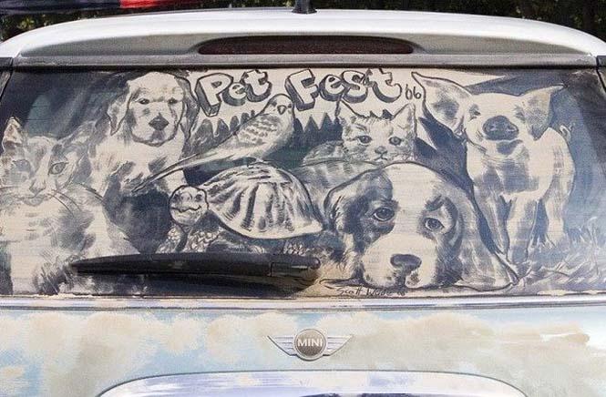 Εκεί που βλέπεις ένα σκονισμένο αυτοκίνητο, αυτός ο καλλιτέχνης βλέπει έναν κενό καμβά (10)