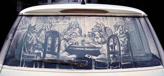Εκεί που βλέπεις ένα σκονισμένο αυτοκίνητο, αυτός ο καλλιτέχνης βλέπει έναν κενό καμβά (11)