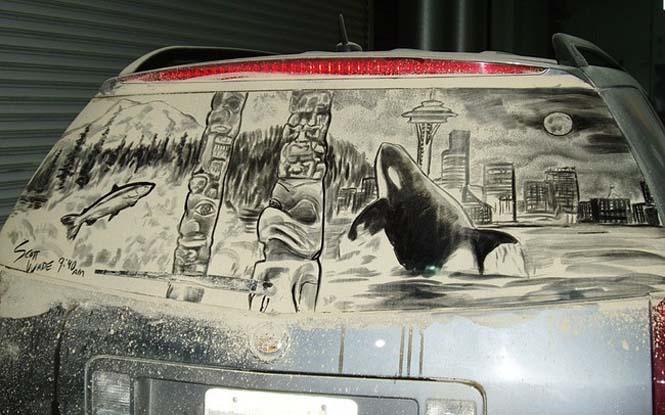 Εκεί που βλέπεις ένα σκονισμένο αυτοκίνητο, αυτός ο καλλιτέχνης βλέπει έναν κενό καμβά (17)