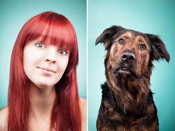 Σκύλοι και ιδιοκτήτες στην ίδια πόζα (1)