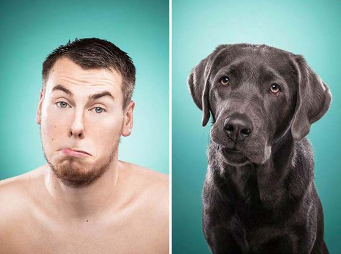 Σκύλοι και ιδιοκτήτες στην ίδια πόζα (3)
