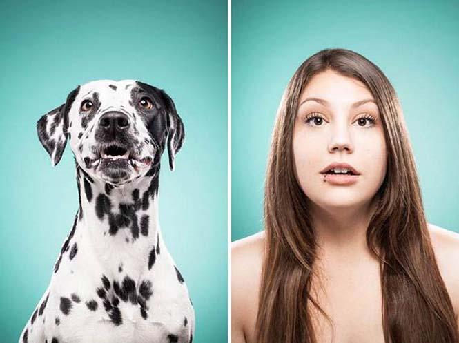 Σκύλοι και ιδιοκτήτες στην ίδια πόζα (13)