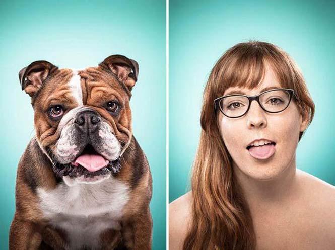 Σκύλοι και ιδιοκτήτες στην ίδια πόζα (18)
