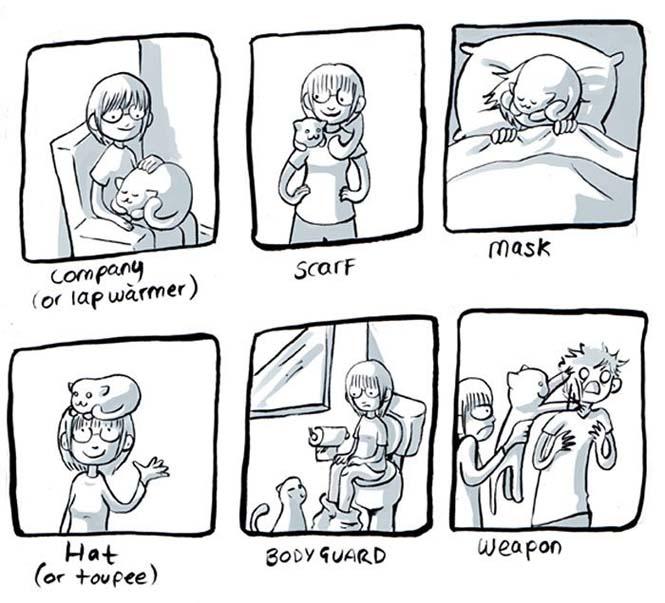 Χιουμοριστικά κόμικς δείχνουν πως είναι να έχεις γάτα (7)