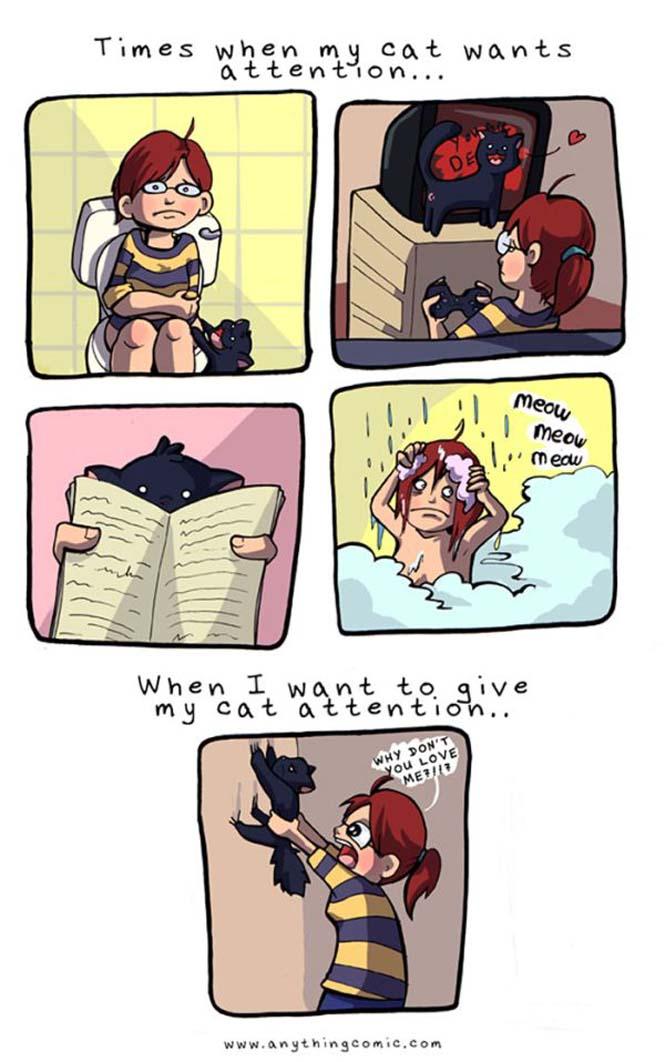 Χιουμοριστικά κόμικς δείχνουν πως είναι να έχεις γάτα (10)