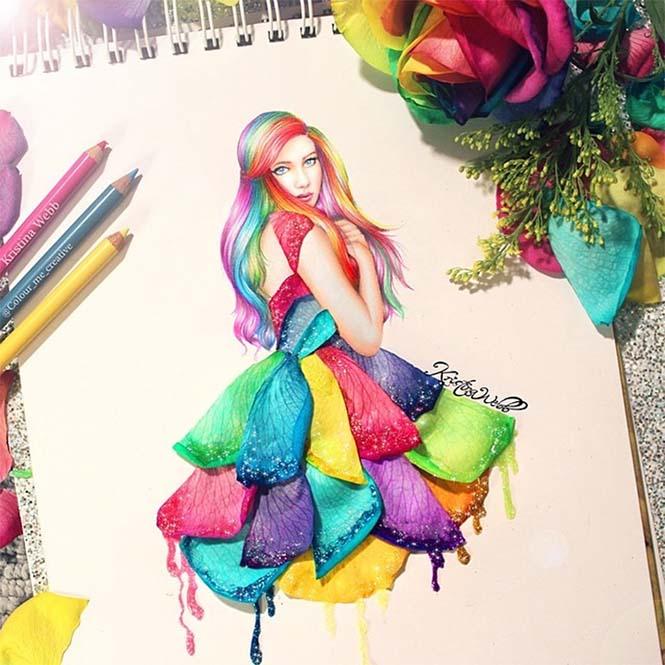 19χρονη καλλιτέχνις χρησιμοποιεί λουλούδια και τρόφιμα για να ολοκληρώσει τις ζωγραφιές της (2)