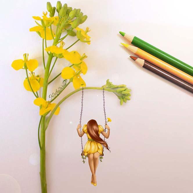 19χρονη καλλιτέχνις χρησιμοποιεί λουλούδια και τρόφιμα για να ολοκληρώσει τις ζωγραφιές της (3)