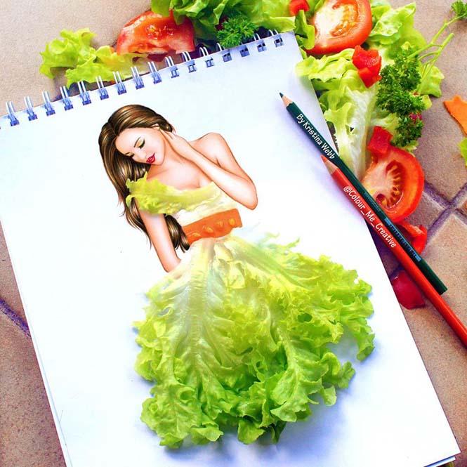 19χρονη καλλιτέχνις χρησιμοποιεί λουλούδια και τρόφιμα για να ολοκληρώσει τις ζωγραφιές της (7)
