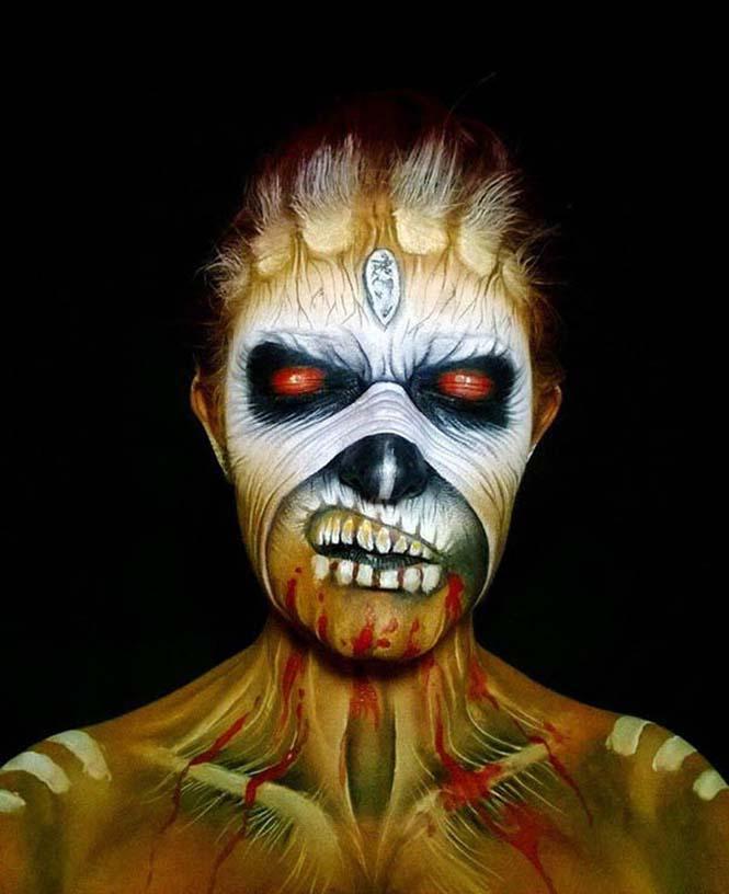 Ανατριχιαστικά μακιγιάζ από την Nikki Shelley (5)
