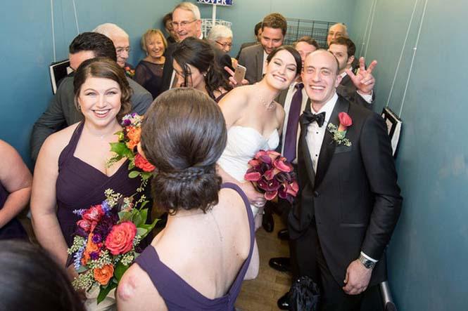 Γαμήλιο πάρτι στο ασανσέρ (3)