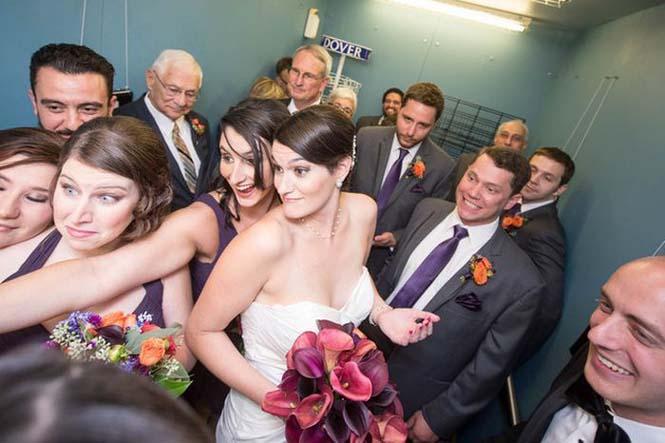Γαμήλιο πάρτι στο ασανσέρ (5)